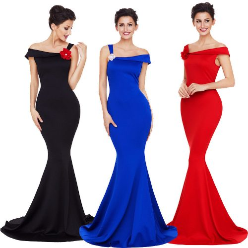 One Shoulder Mermaid Gown Party Long Dress