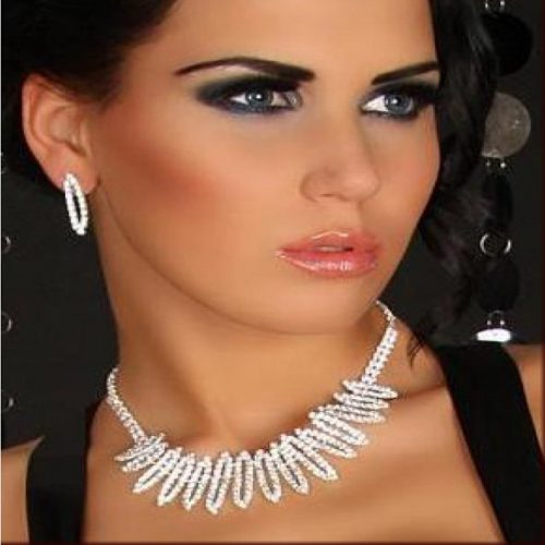 Bridal Jewellery Set Wedding Accessories Crystal Rhinestone Necklace Earrings