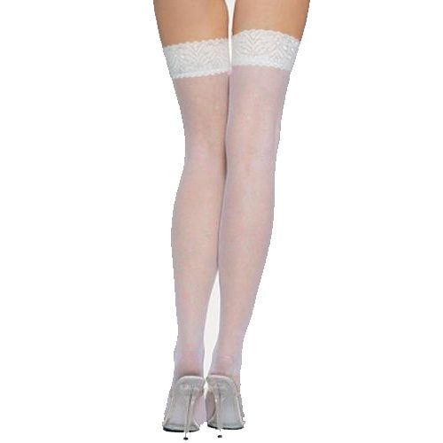 White Lace Stocking Sock Knee Thigh High Pantyhose