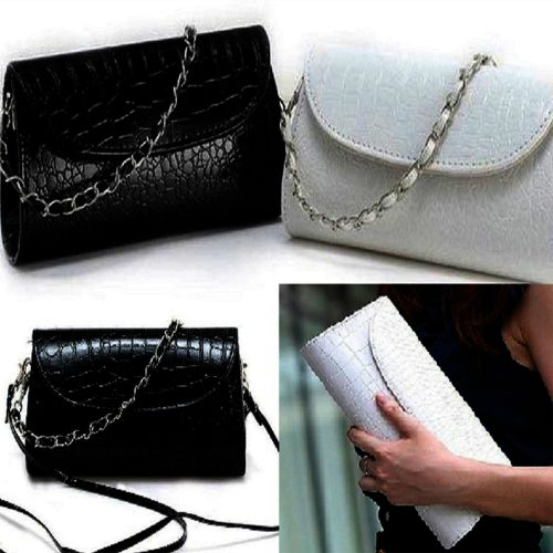 White Hard Case Leprose Texture Ladies Clutch Fashion Handbag