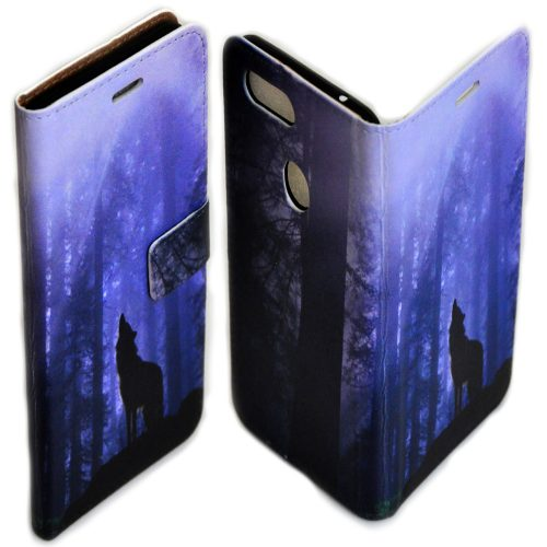 Wolf Wolves Theme Print Flip Case Wallet Mobile Phone Cover