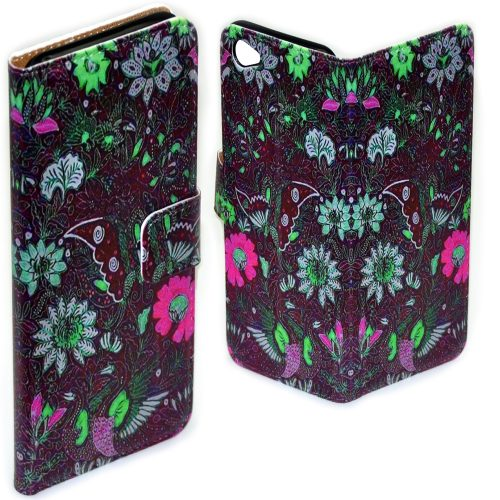Batik Print Pattern Flip Case Mobile Phone Cover