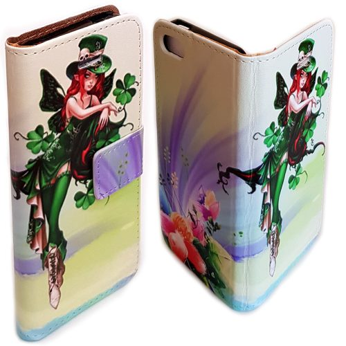 St. Patrick's Day Theme Print Flip Case Wallet Mobile Phone Cover