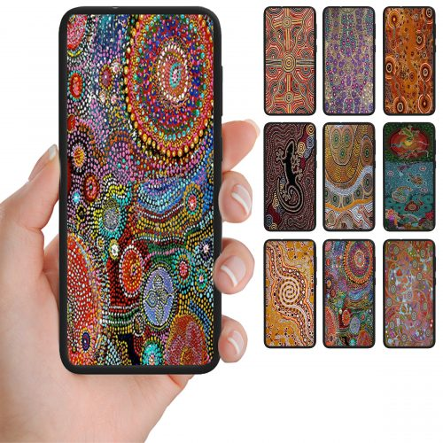 Aboriginal Art Pattern Print Mobile Phone Back Case Cover