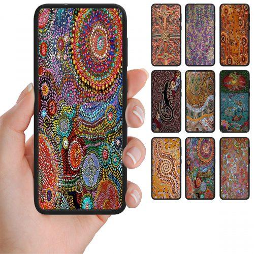 Aboriginal Art Pattern Print Mobile Phone Back Case Cover
