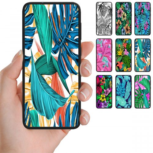 Tropical Leaf Theme Print Pattern Back Case Mobile Phone Cover