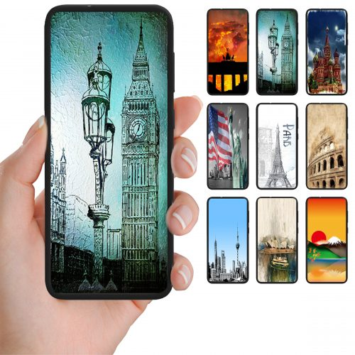 Capital City Landmark Print Theme Back Case Mobile Phone Cover
