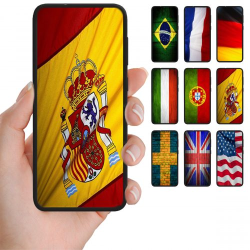 National Flag Theme Print Mobile Phone Case Back Cover