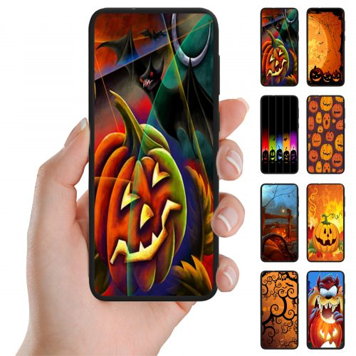 Halloween Print Theme Back Case Mobile Phone Cover