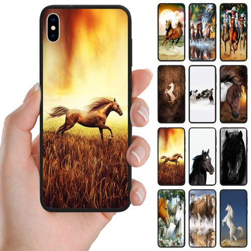 Horse Print Theme Back Case Mobile Phone Cover