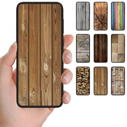 Wood Timber Theme Print Pattern Back Case Mobile Phone Cover