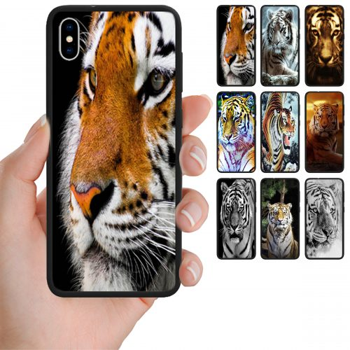 Tiger Print Theme Back Case Mobile Phone Cover