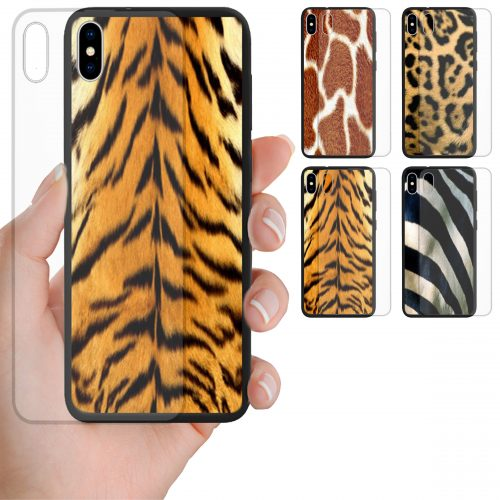 Animal Fur Print Tempered Glass Back Case Phone Cover