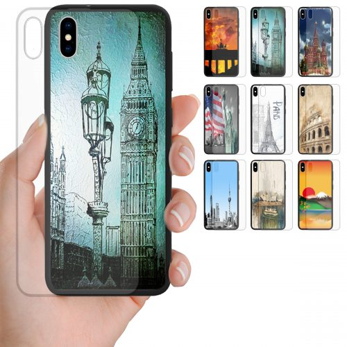 Capital City Landmark Tempered Glass Back Case Mobile Phone Cover