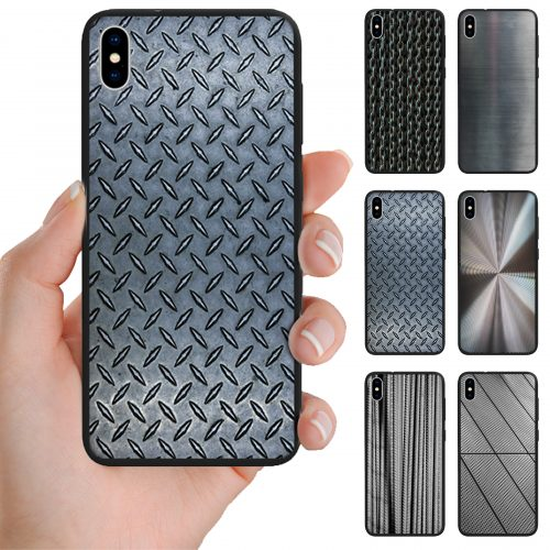 Steel Metal Iron Print Pattern Mobile Phone Case for iPhone, Samsung, OPPO, Huawei