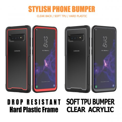 3 in 1 Shockproof Bumper Phone Case for Samsung Galaxy S10 Series