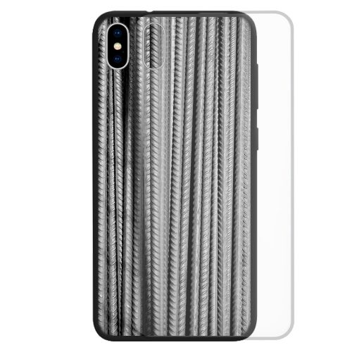 Tempered Glass Phone Case for iPhone, Samsung, Huawei, OPPO Phone Series featuring Steel, Metal, Iron Print Pattern