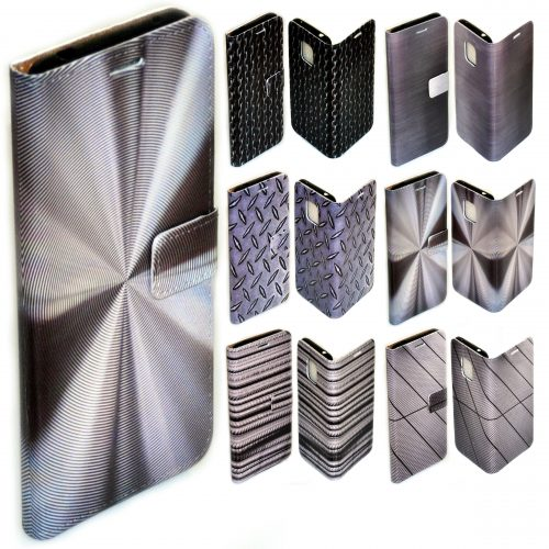 Steel Metal Iron Print Pattern Flip Case Mobile Phone Cover