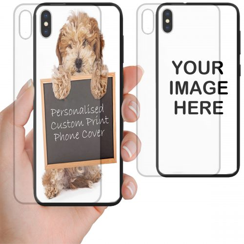 Custom Personalised Print Tempered Glass Phone Cover for iPhone, Samsung, OPPO, and Huawei Series Mobile Phones