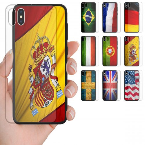 National Flag Print Theme Tempered Glass Phone Cover for iPhone, Samsung, OPPO, Huawei
