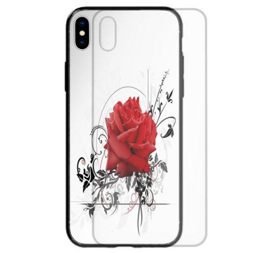 Valentine's Day Love Theme Print Tempered Glass Phone Case