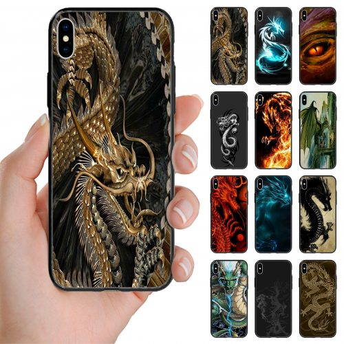 Dragon Theme Print Back Case Mobile Phone Cover