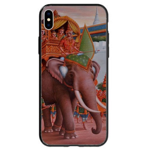 Elephant Theme Printed Back Case Mobile Phone Cover