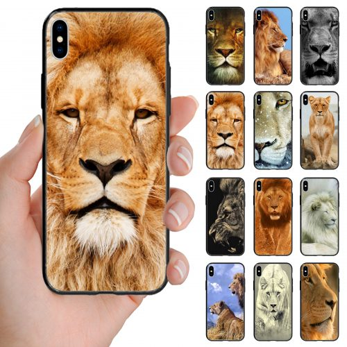 Lion Theme Printed Back Case Mobile Phone Cover