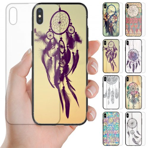 Dream Catcher Theme Print Tempered Glass Back Case Phone Cover