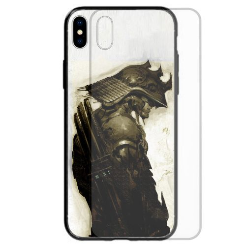 Japan Theme Tempered Glass Back Case Mobile Phone Cover