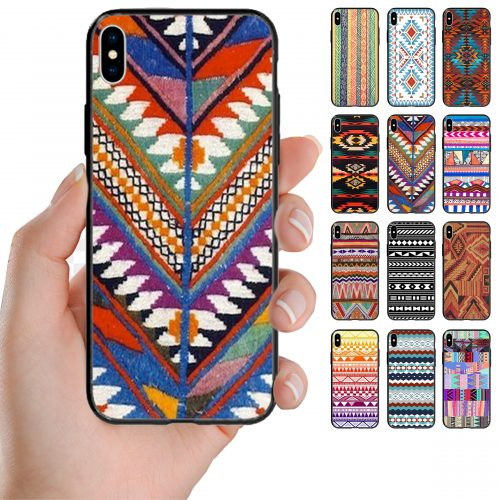 Navajo Theme Pattern Printed Back Case Mobile Phone Cover