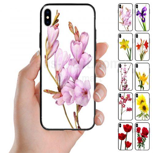 Flower Theme Print Back Case Mobile Phone Cover