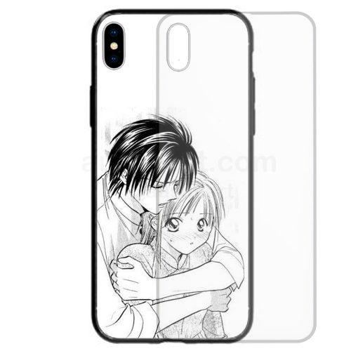Anime Manga Japanese Cartoon Theme Print Tempered Glass Back Case Mobile Phone Cover