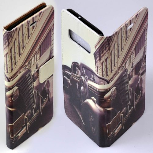 1930s Vintage Lifestyle Theme Print Flip Wallet Mobile Phone Cover