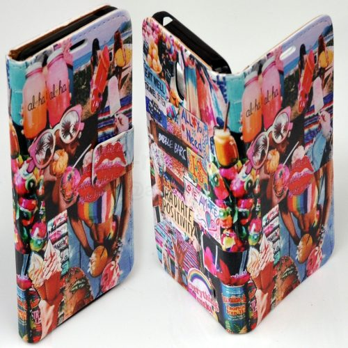 1970s Retro Vintage Theme Print Flip Wallet Mobile Phone Cover