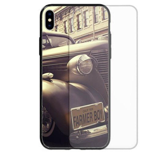 1930s Vintage Lifestyle Theme Print Tempered Glass Back Case Mobile Phone Cover