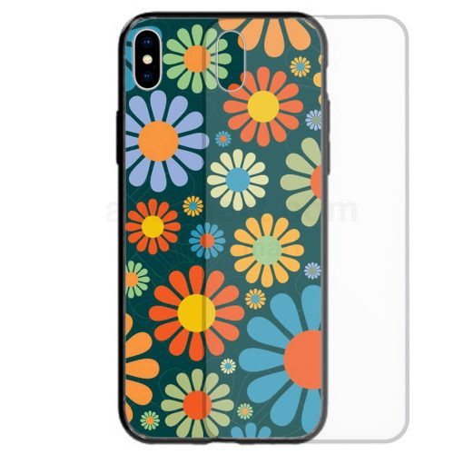 1970s Retro Vintage Theme Print Tempered Glass Back Case Mobile Phone Cover