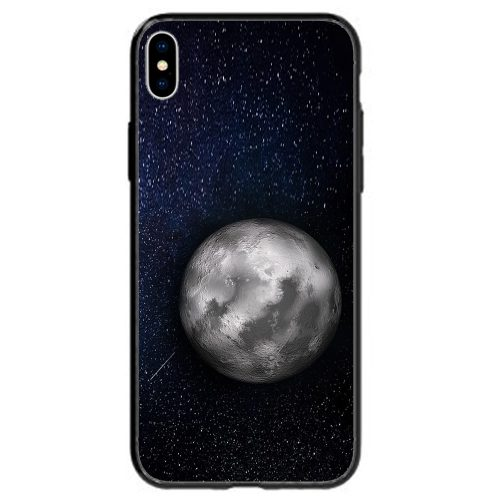 Mobile Phone Cover Back Case featuring Full Moon on Starry Night Sky Galaxy