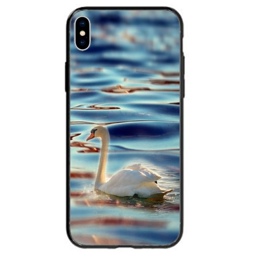 Mobile Phone Cover Back Case featuring White Swan Floating on Still Water