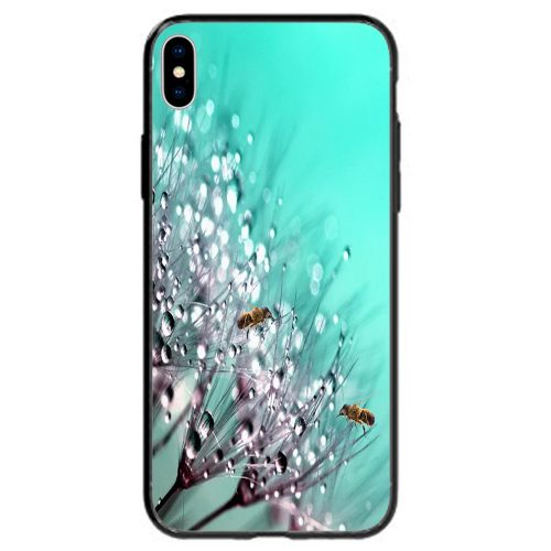 Mobile Phone Cover Back Case featuring Bees on the tip of Dandelion Droplets